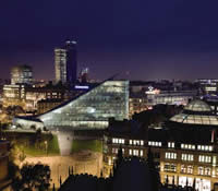 Manchester nightime image